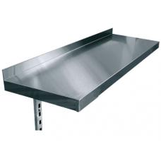 Полки навесные одноуровневые консольные нержавеющая сталь