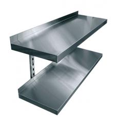 Полки навесные двухуровневые консольные нержавеющая сталь