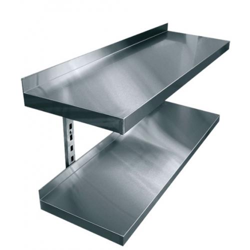 Купить Полки навесные двухуровневые консольные нержавеющая сталь