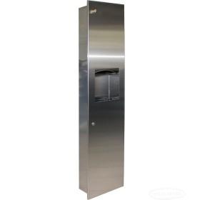 Шкаф из нержавеющей стали для бумажных полотенец ШТРНж-1