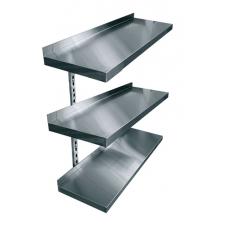Полки навесные трехуровневые консольные нержавеющая сталь