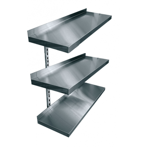 Купить Полки навесные трехуровневые консольные нержавеющая сталь
