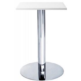 Стол барный Ибица WH белый, 600х600, h1100