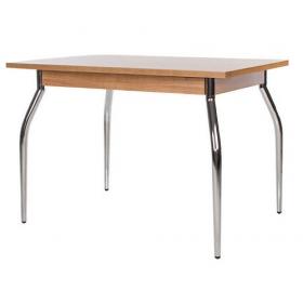 Стол обеденный TALIO (ТАЛИО) с металлическим хромированным каркасом и прямоугольной столешницей