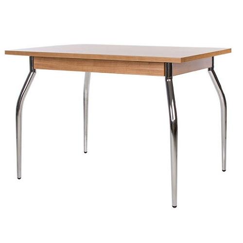 Купить Стол обеденный TALIO (ТАЛИО) с металлическим хромированным каркасом и прямоугольной столешницей