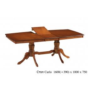 Стол деревянный CARLO (КАРЛО) каштан раскладной 1600(+390)x1000x750-800h
