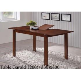 Стол деревянный GAROLD (ГАРОЛЬД) раскладной 1200(+300)х800х740-800h