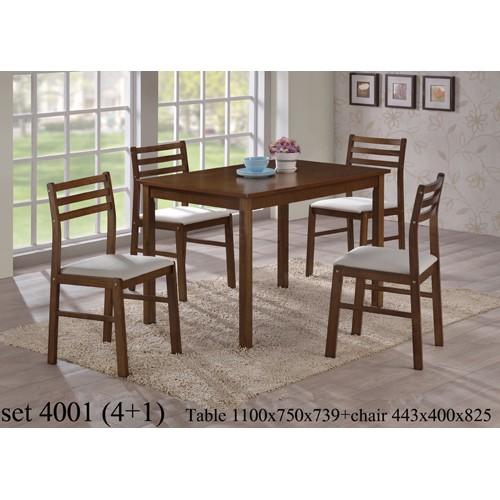 Купить Комплект столовый 4001 стол + 4 стула шоколад