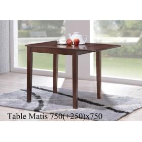 Стол деревянный MATIS (МАТИС) орех раскладной 750(+250)x750x760-800h