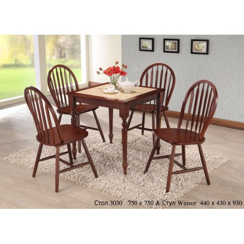 Купить Стол деревянный СТ 3030 с керамической столешницей 750x750x750h