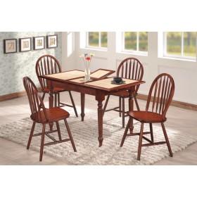 Стол деревянный СТ 2950 с раскладной керамической столешницей 1000(+270)х750x750h махагон
