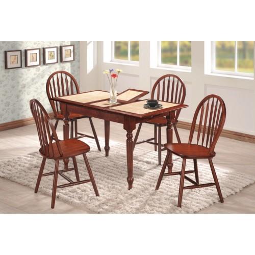 Купить Стол деревянный СТ 2950 с раскладной керамической столешницей 1000(+270)х750x750h махагон