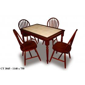 Стол деревянный СТ 3045 с керамической столешницей 1140x750x750h махагон