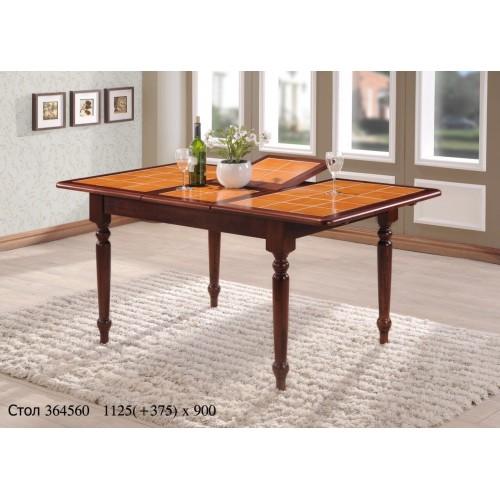 Купить Стол деревянный СТ 364560 с керамической столешницей 1125(+375)х900x750h махагон