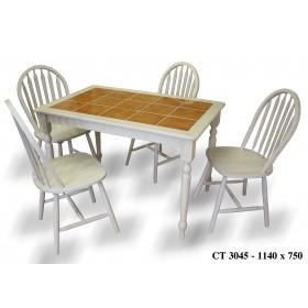 Стол деревянный СТ 3045 с керамической столешницей 1140x750x750h беленый дуб