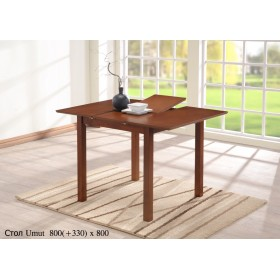 Стол деревянный UMUT (УМУТ) 80 раскладной 800(+330)x800x750-800h