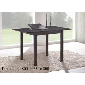 Стол деревянный UMUT (УМУТ) венге раскладной 800(+330)x800x750-800h