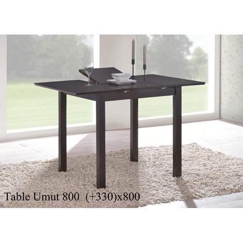 Купить Стол деревянный UMUT (УМУТ) венге раскладной 800(+330)x800x750-800h