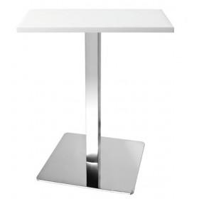 Стол барный Бали2W белый, 700х700