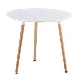 Стол обеденный Нолас белый, d800