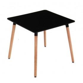 Стол обеденный Нури черный, 800х800