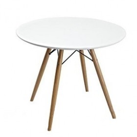 Стол обеденный Тауэр Вуд белый, d800