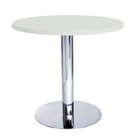 Стол барный Тава R белый, d600 мм