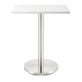 Стол барный Тава S белый, 600х600 мм