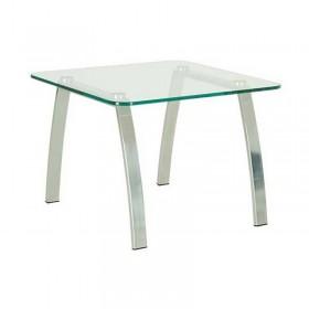 Стол журнальный INCANTO (Инканто) table chrome GL стекло