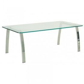 Стол журнальный INCANTO (Инканто) table Duo chrome GL стекло