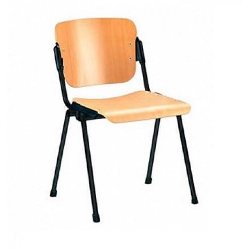Купить Стул офисный ERA (ЭРА) wood c сидением и спинкой из полированной фанеры