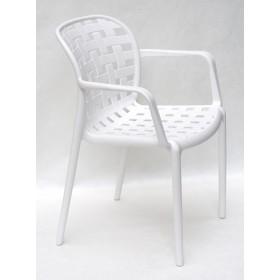 Стул Gari Arm (Гари Арм) пластик белый