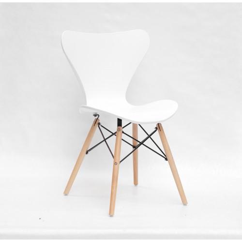 Купить Стул Max (Макс) пластик белый, деревянные ножки