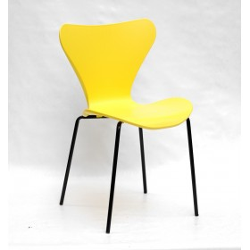Стул Max (Макс) пластик желтый, черные ножки