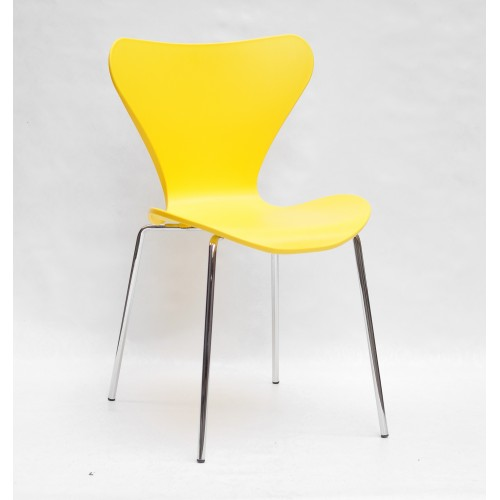 Купить Стул Max (Макс) пластик желтый, хромированные ножки