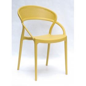 Стул Nelson (Нелсон) пластик желтый