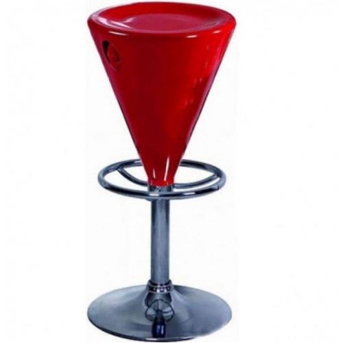 Купить Стул барный Коно красный, пластик