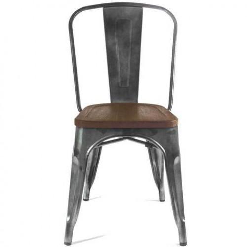 Купить Стул барный Толикс Вуд металл, матовый черный, деревянное сидение