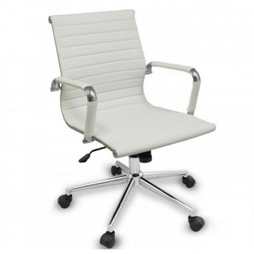 Купить Кресло Алабама MNEW офисное, средняя спинка, белое