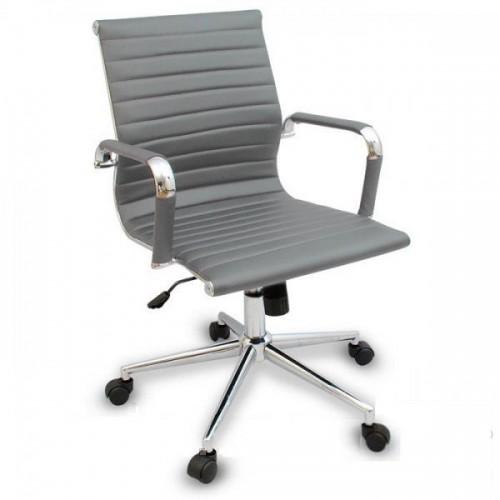Купить Кресло Алабама MNEW офисное, средняя спинка, серое