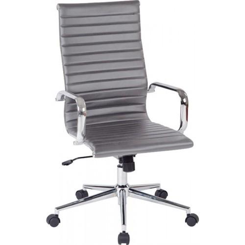 Купить Кресло Алабама НNEW офисное, высокая спинка, серое