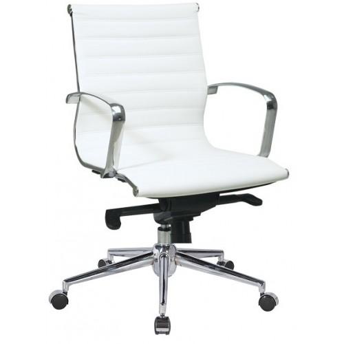 Купить Кресло Алабама M офисное, мультиблок, средняя спинка, белое