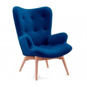 Кресло Флорино синее, мягкое