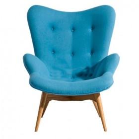 Кресло Флорино голубое, мягкое