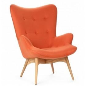 Кресло Флорино оранжевое, мягкое