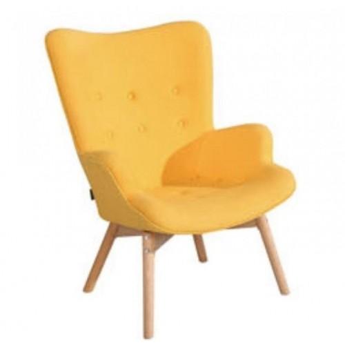 Купить Кресло Флорино желтое, мягкое