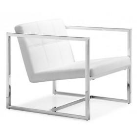 Кресло Нортон белое, мягкое