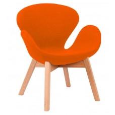 Кресло Сван оранжевое, мягкое