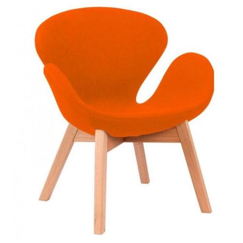 Купить Кресло Сван оранжевое, мягкое