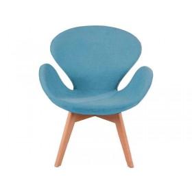 Кресло Сван голубое, мягкое
